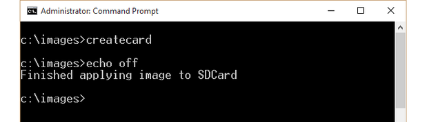 SD card partitioning and formatting -- running createcard