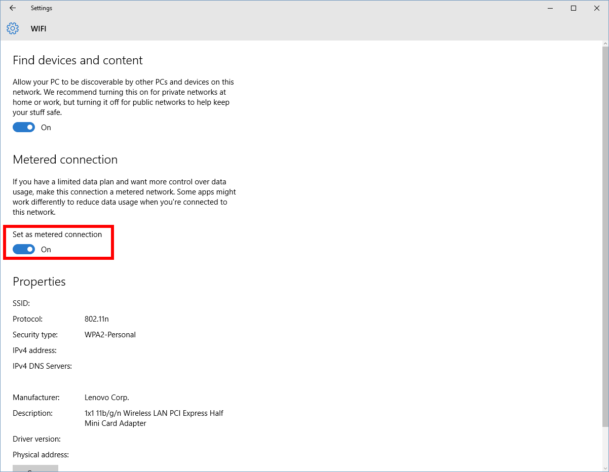 Index of images article windows 10 enable or disable windows update - For The Latter All You Have To Do Is Set Your Wi Fi Connection To Metered Though Note That Microsoft Does Not Allow You To Set Ethernet Connections As