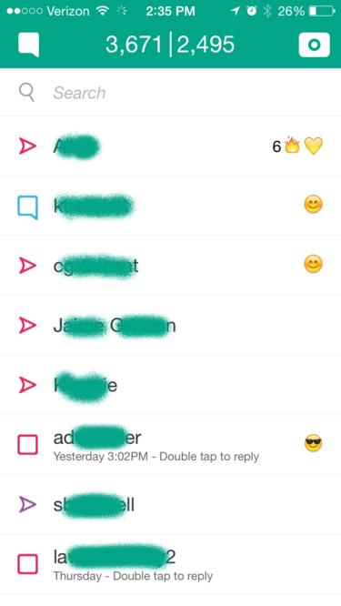 snapchat feed users friends emojis