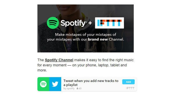 Spotify and IFTTT
