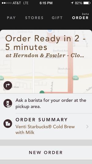 starbucks order ready