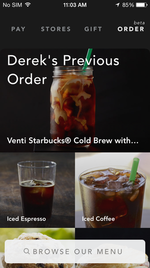 starbucks past order