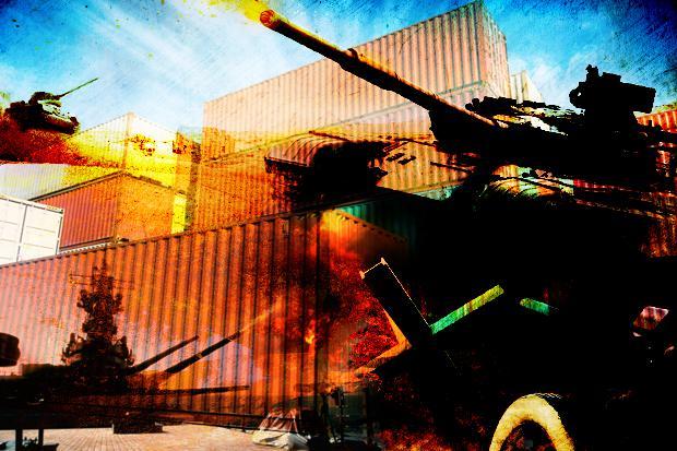 war battle container battle
