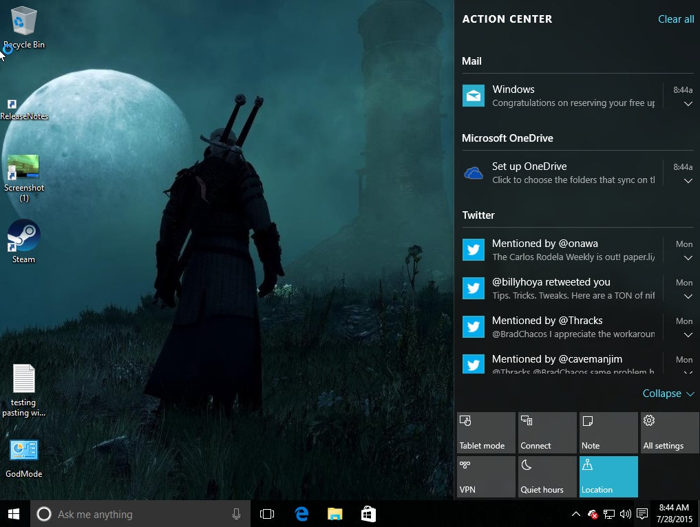 How to customize Windows 10's Action Center | PCWorld
