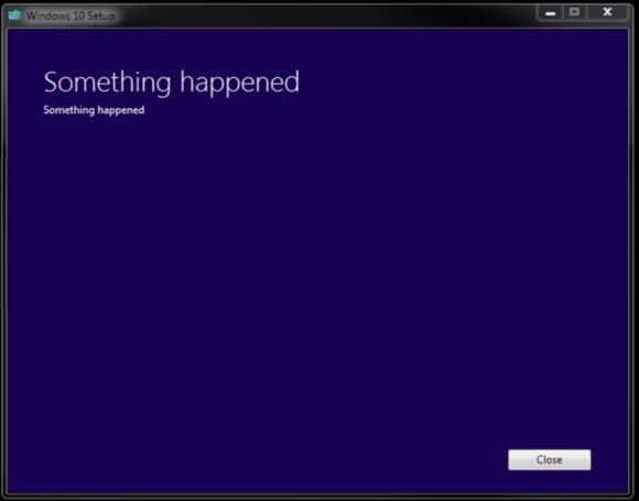 windows 10 bug something happened