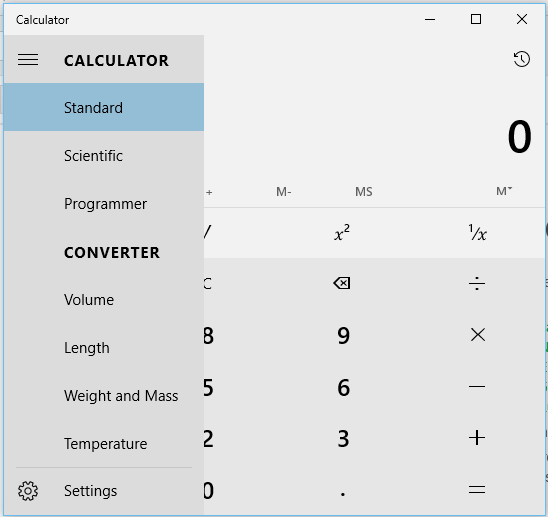 how to get calculator on windows 10
