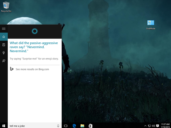 how to get cortana to play music windows 10