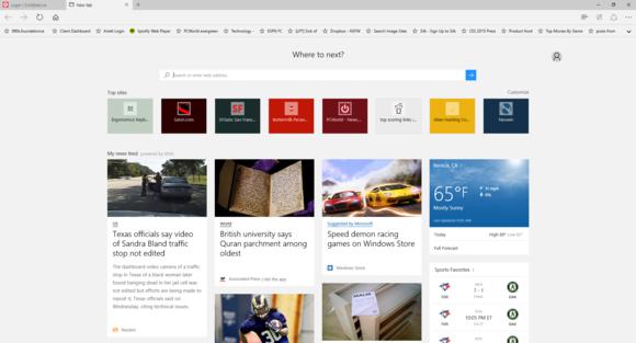 windows 10 edge new tab