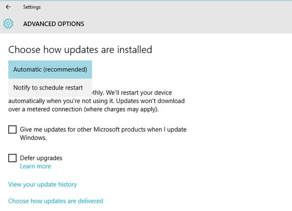 windows 10 forced updates