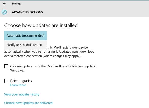 windows 10 forced updates