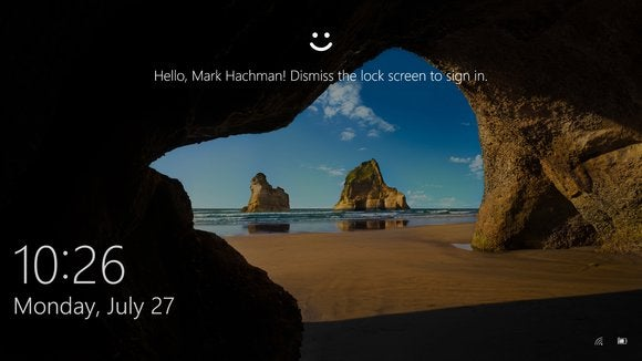 windows 10 hello lock screen