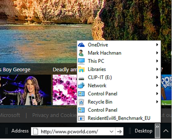 windows 10 hidden address bar desktop