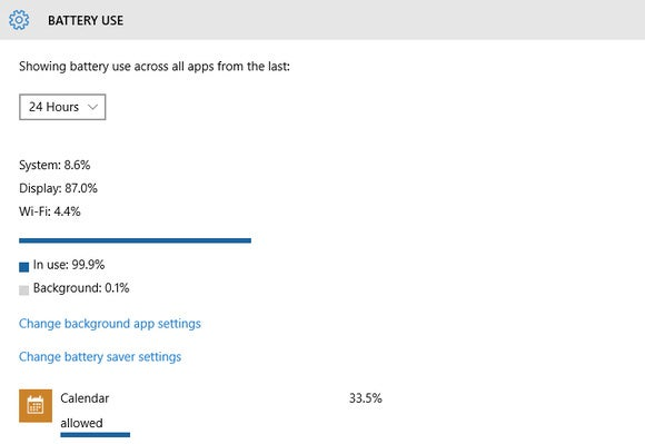 windows 10 hidden battery use