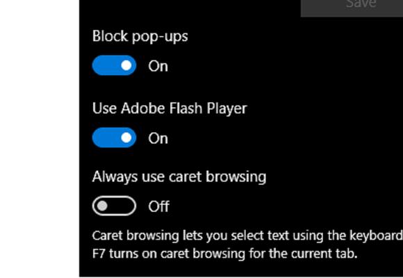 windows 10 hidden edge options