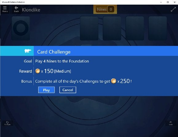 windows 10 hidden solitaire challenges
