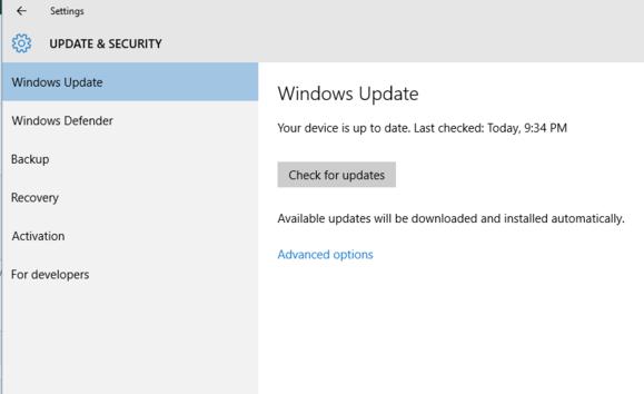 windows 10 intro settings