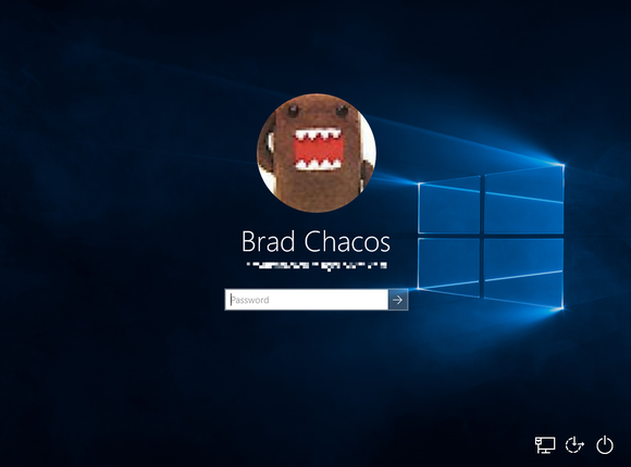 windows 10 login screen