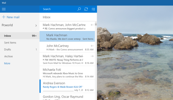windows 10 mail inbox edited