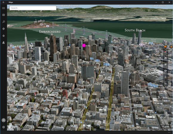 windows 10 maps 3d view