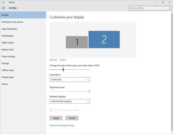 windows 10 multi monitor display scaling