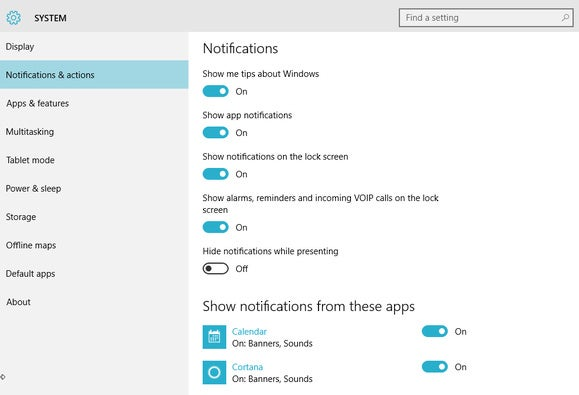 windows 10 notifications