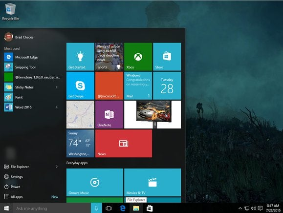 How To Customize The Left Side Of The Windows 10 Start Menu Pcworld