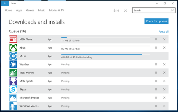 windows 10 store app updates