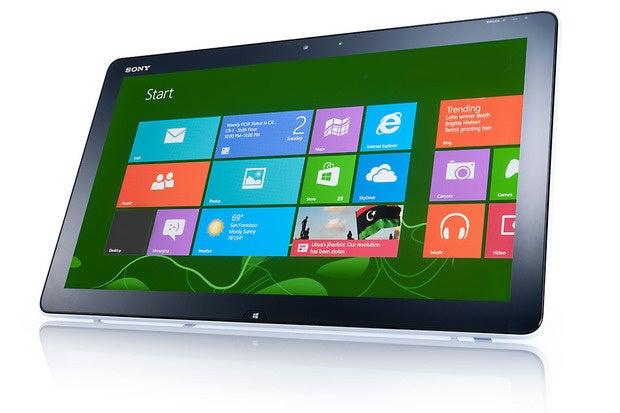 windows 8 on a tablet