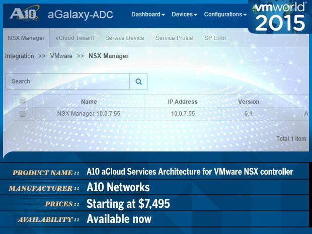 a10 networks vmware 2015