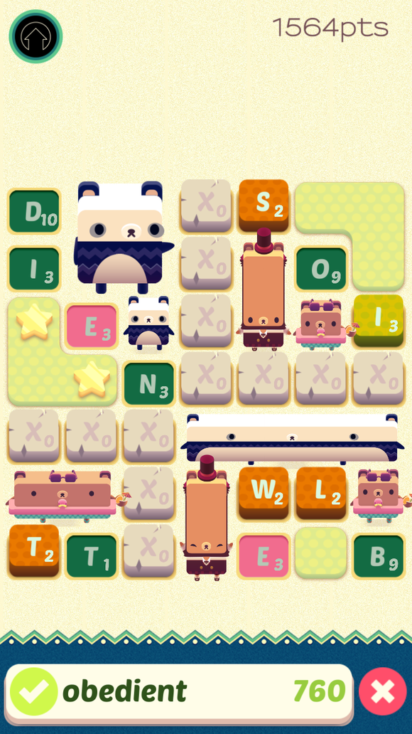This special stage already has stone barriers impeding your path, but  there's still room to spell out long words.