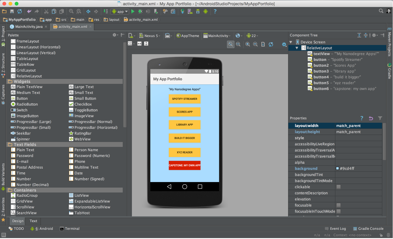 Learn android studio book