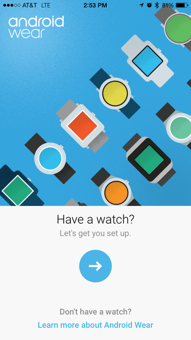 android wear ios app