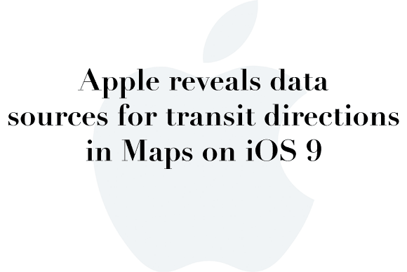 apple maps sources