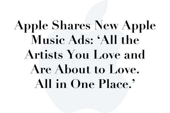 apple music ads