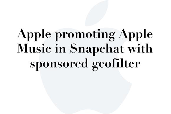 apple music snapchat