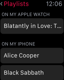 apple watch sync apple music playlists