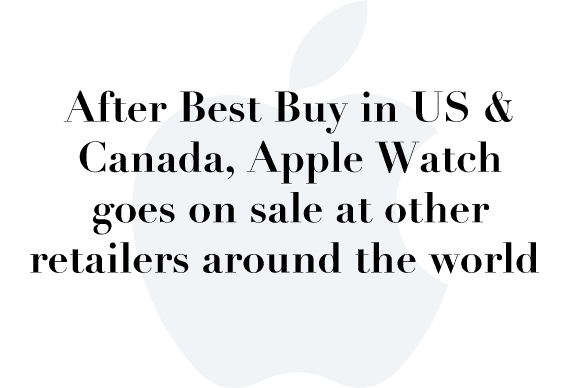apple watch worldwide