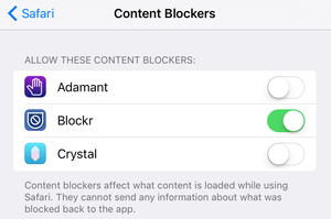 blockers safari config