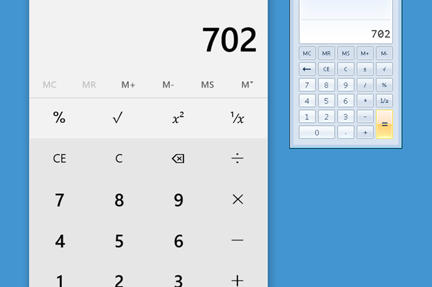 Windows calculator comparison