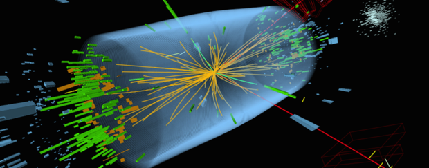 CERN particle collision rendering