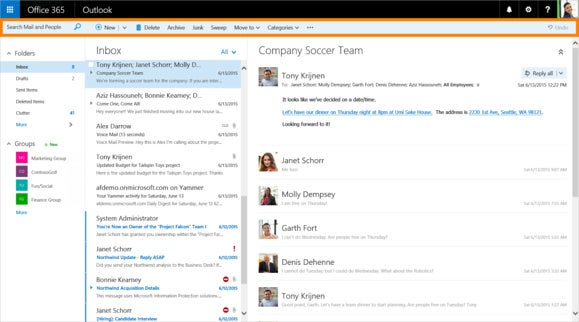 cropped and highlighted new features coming to outlook on the web 1