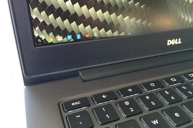 dell chromebook 13 screen keyboard detail