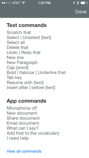 dragon anywhere commands
