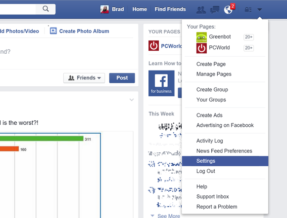 facebook video settings