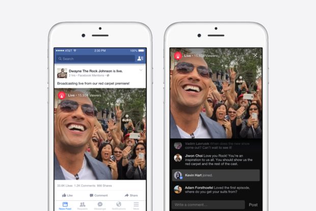 facebook live mentions