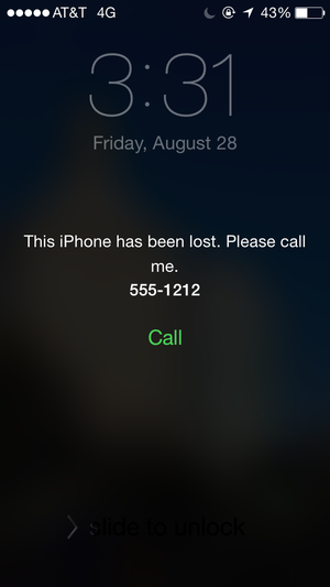 find iphone lost mode