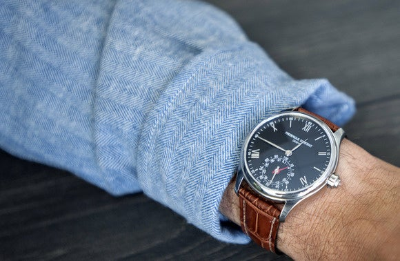 frederique constant on wrist