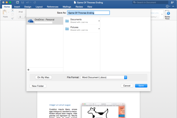 Office 2016 for Mac: OneDrive and SharePoint