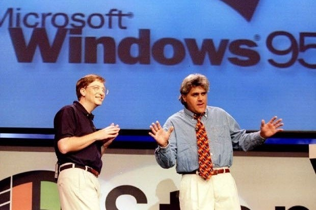 Bill Gates and Jay Leno