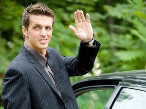 goodbye business man leaving work wave adios